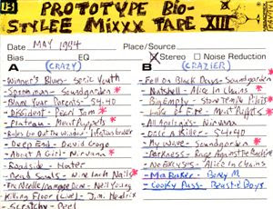 Prototype Bio-Stylee Mixxx Tape XIII