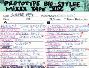 Prototype Bio-Stylee Mixxx Tape XIV